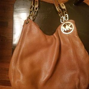 Michael Kors Brown Leather Pocketbook